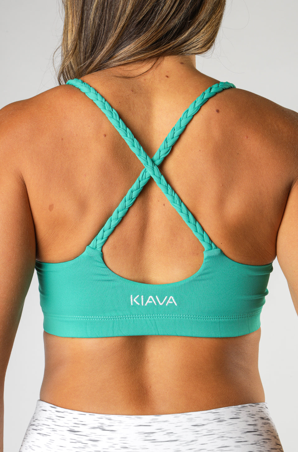 Battle Rope Bra- Medium Impact Support (Tropical Green)