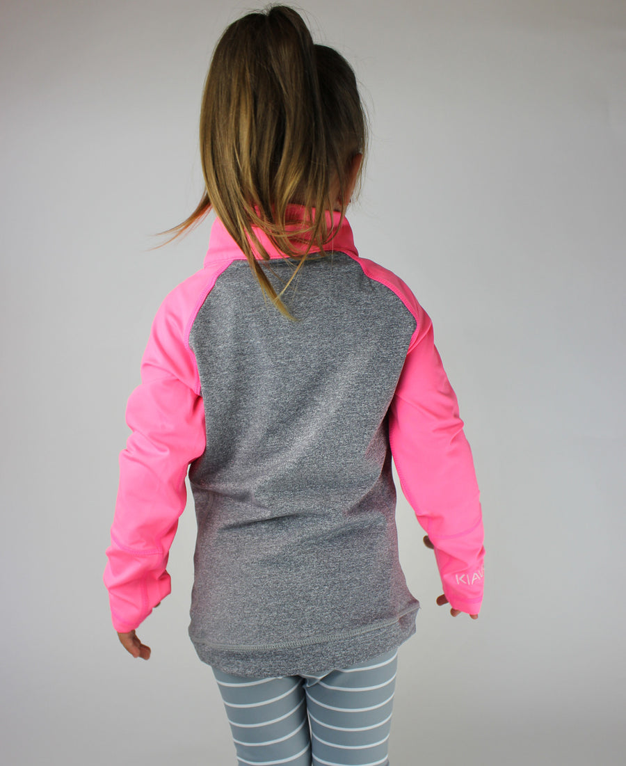 KIDS Half Zip - Bubble Gum Pink