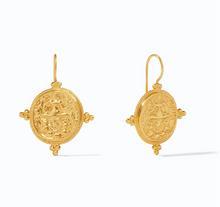 Load image into Gallery viewer, Quatro coin earring