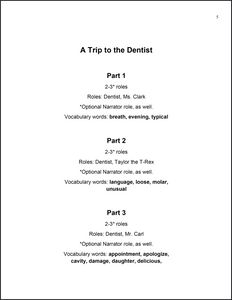 A Trip to the Dentist | Readers Theatre Mini Skit