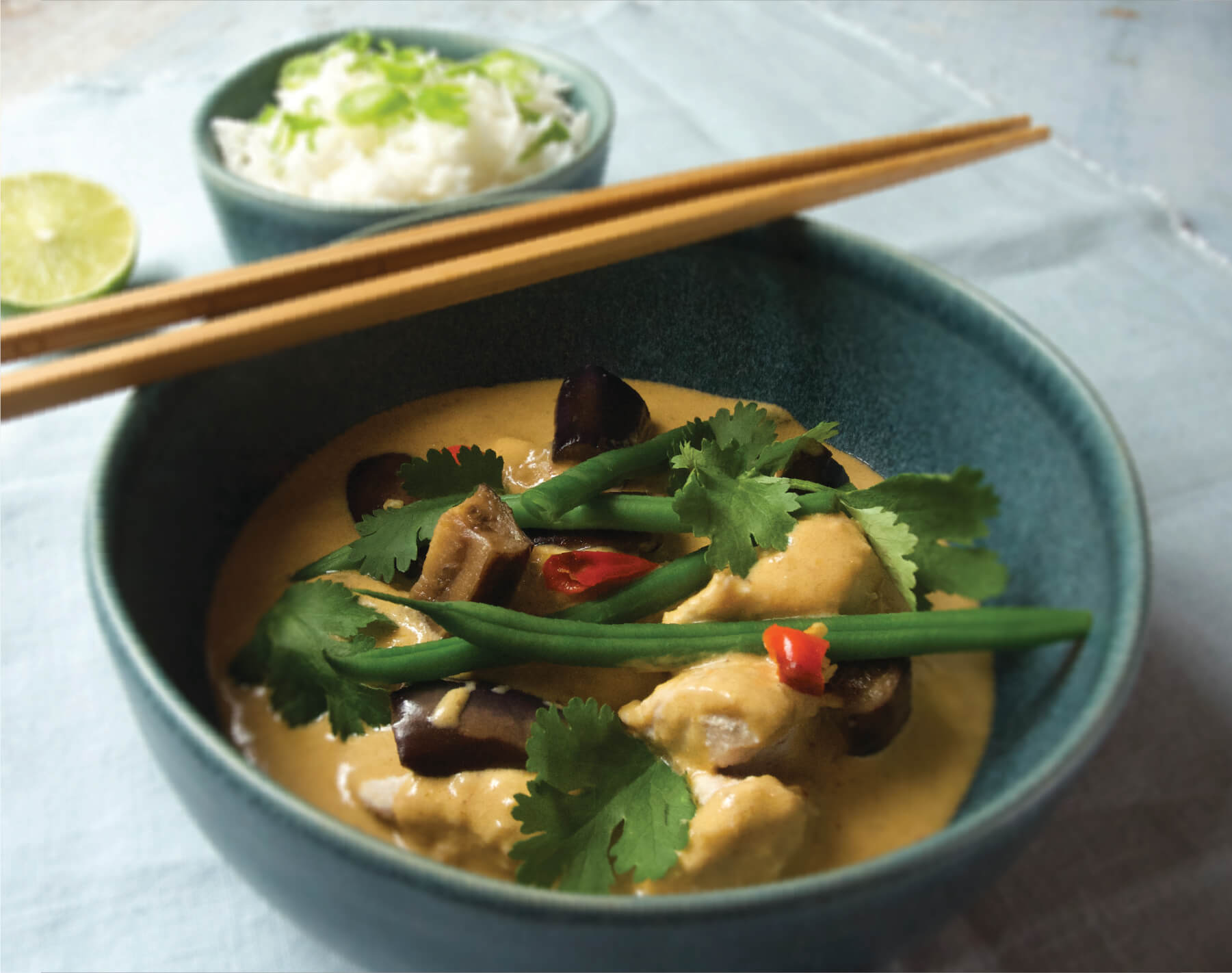 Red Thai chicken curry quick view open