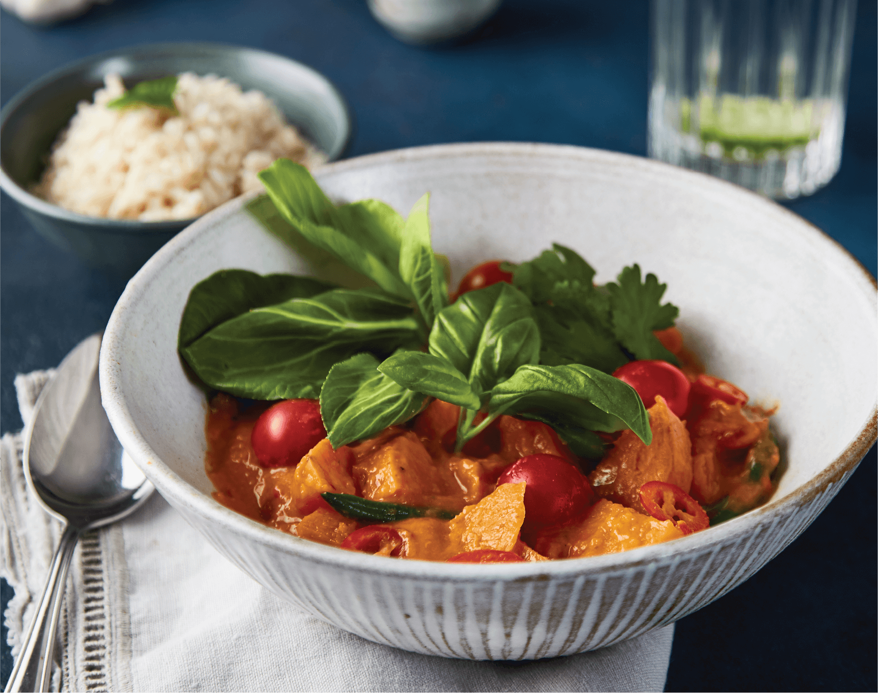 Sweet potato & cherry tomato curry image