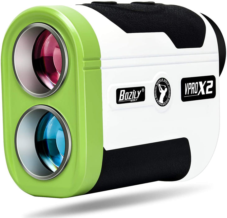 Golf Rangefinder 6X Laser Range Finder 1500 Yards with Slope ON/Off,2 Scan Modes Flag-Lock Tech with Vibration,Continuous Scan Support-with Battery