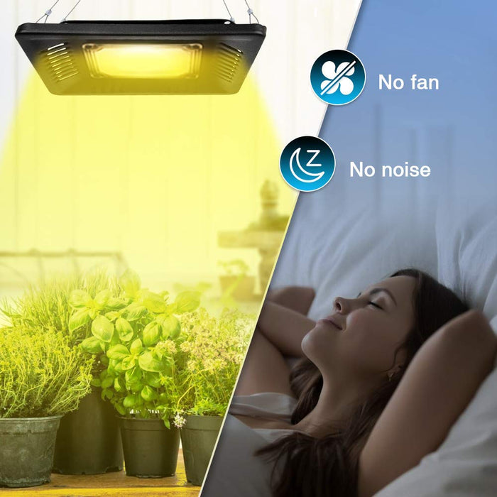 150W Plant Grow Light Sunlike Full Spectrum Waterproof COB LED Grow Lamp,Without Noise Ultra Thin,Heat Dissipation,for Plants Veg Flower Seedling Growing Blooming Fruiting Indoor Outdoor