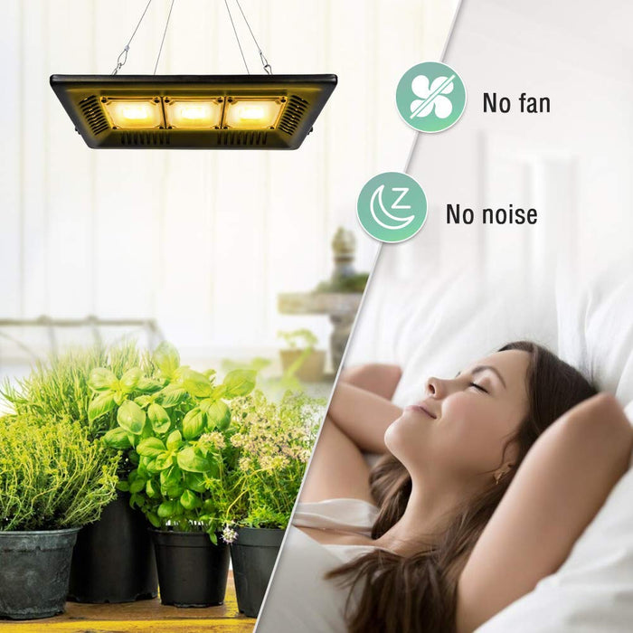 Waterproof LED Grow Light Outdoor Grow Light 450W Full Spectrum Plants Light for Indoor, Garden, Greenhouse, Tent Plants, for Seedling, Flowers, Veg, Natural Heat Dissipation, Without Noise