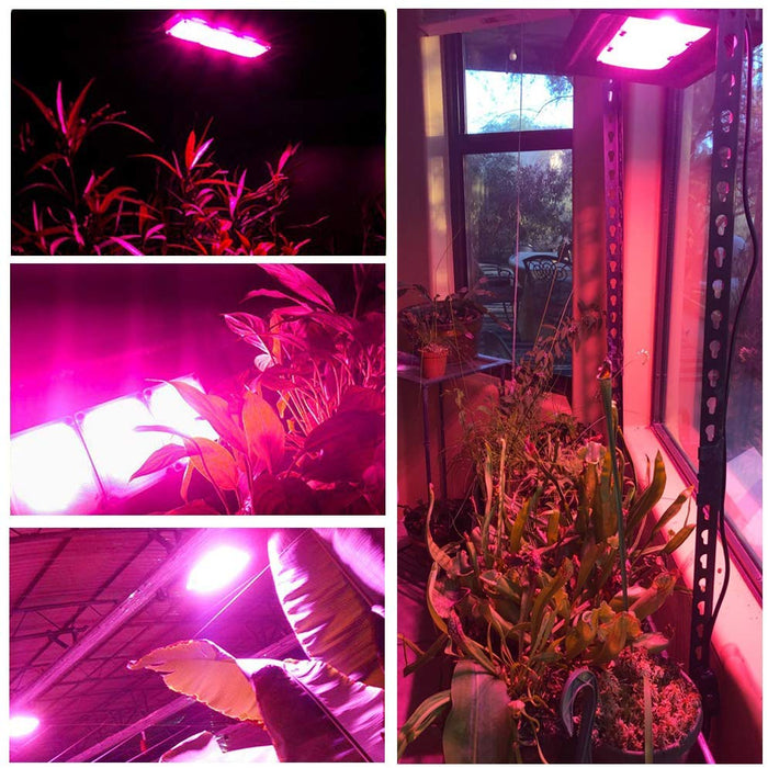 Waterproof LED Grow Light Outdoor Grow Light 450W Full Spectrum Plants Light for Indoor Garden, Greenhouse, Tent Plants, for Seedling, Flowers Veg, Natural Heat Dissipation Without Noise