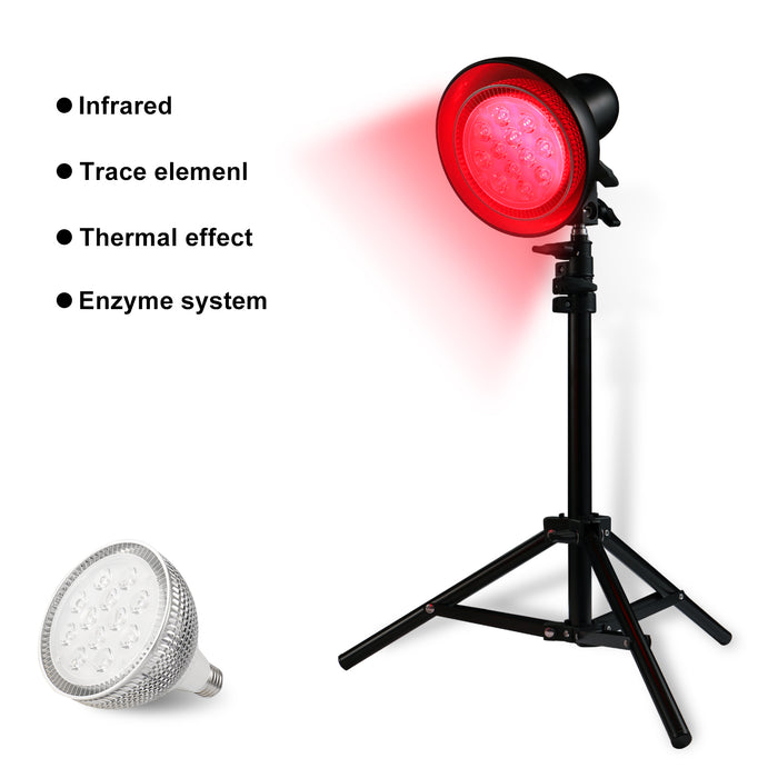 Led Red Light Therapy Lamp for 660nm Grow Light Set with Stand  Free adjustable height 1.2m max