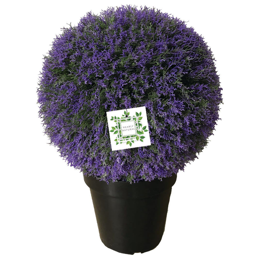 Nearly Natural Lavender Potted Topiary Ball 2 Pack Under The Moon Ie