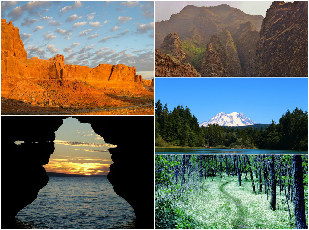 Appellation Trail, Mount Rainier, Moab Arches, Na Pali Coast, Apostle Islands