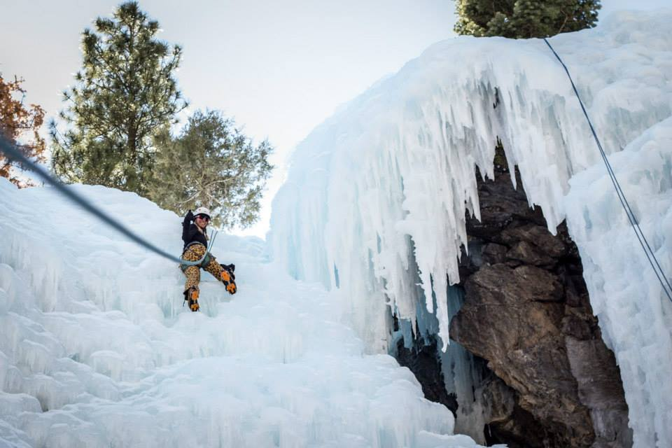 Bold Betties Ice Climbing near Denver