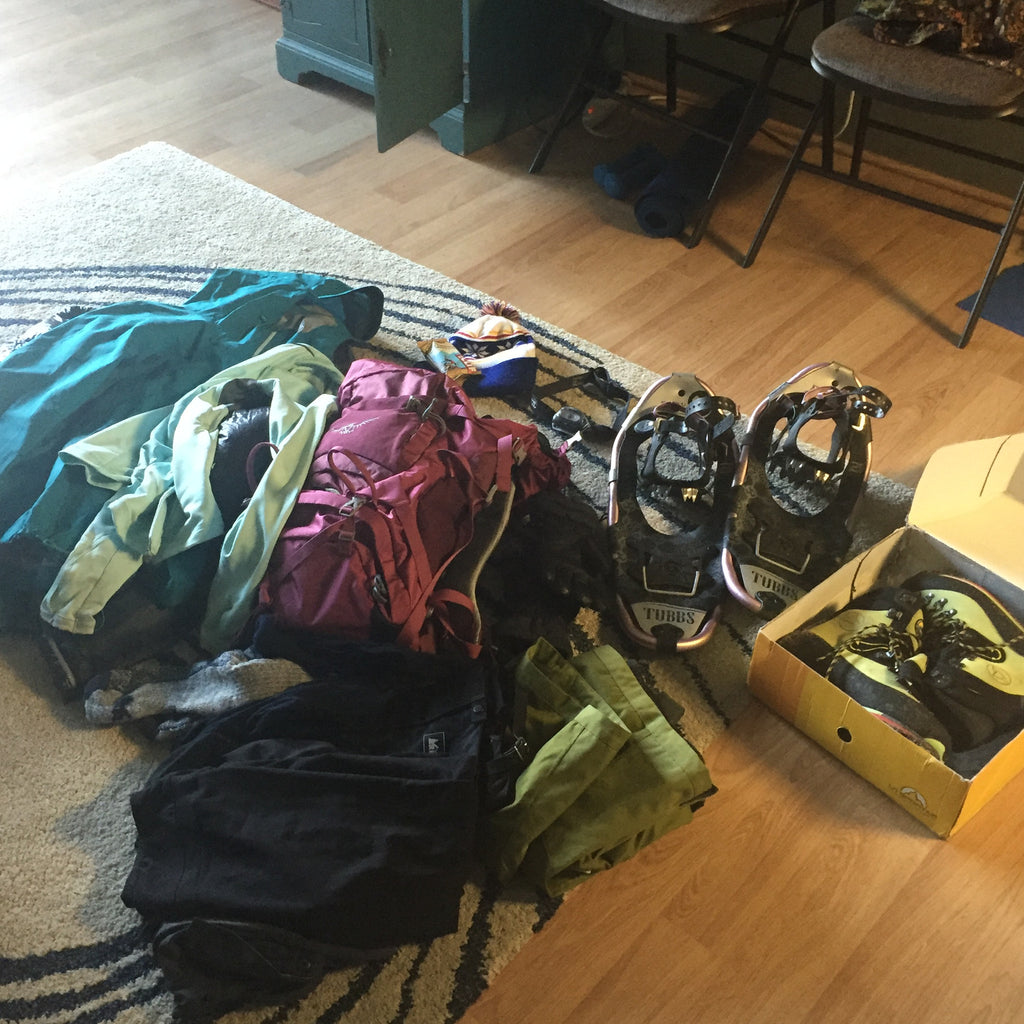 Gear brought on a Mt. Elbert winter ascent 2016