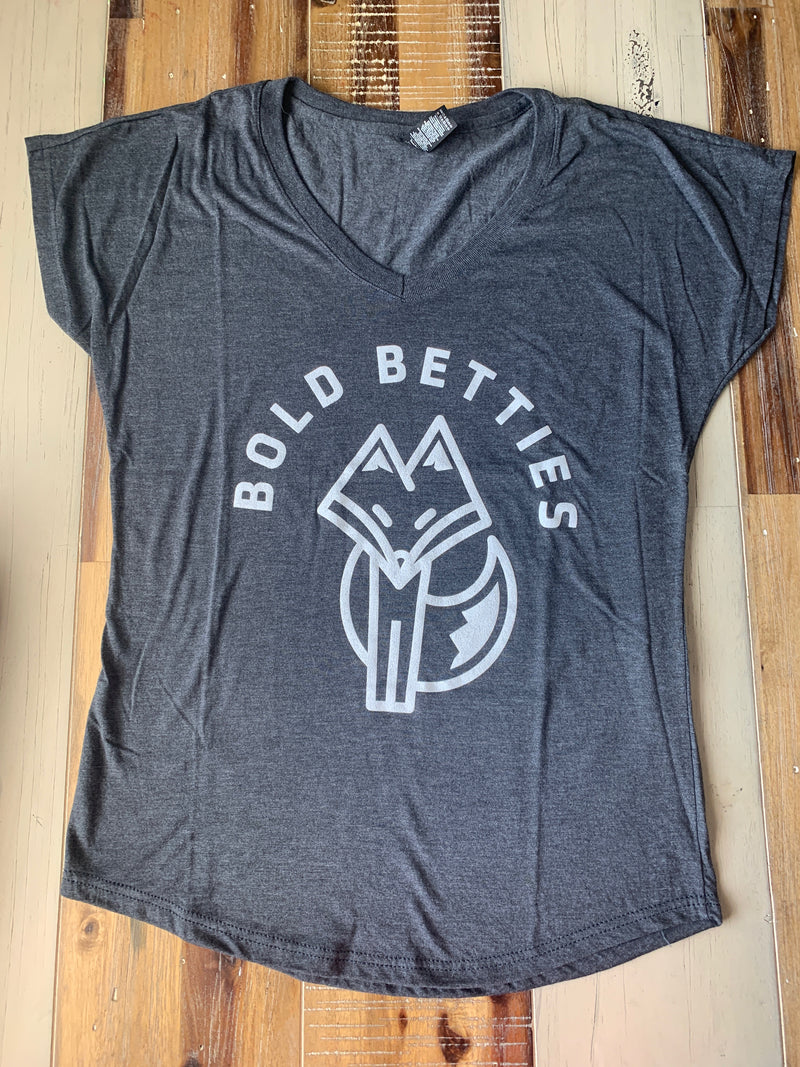 Bold Betties Grey/White Short Sleeve T-Shirt