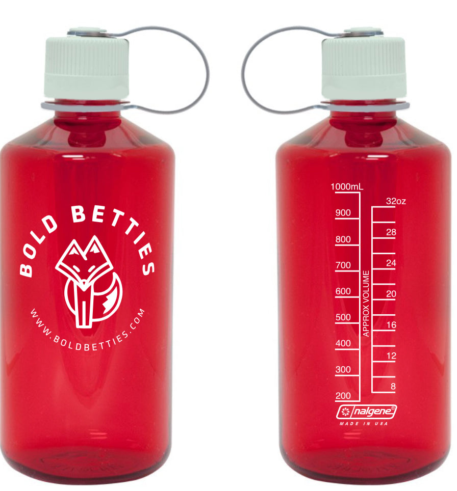 Bold Betties 32 oz Nalgene Water Bottle - Red