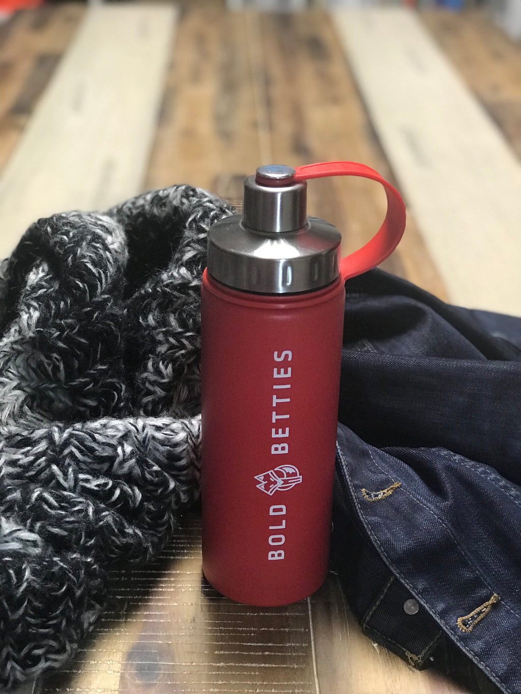 Bold Betties Red Triple Insulated 20 oz. EcoVessel Water Bottle