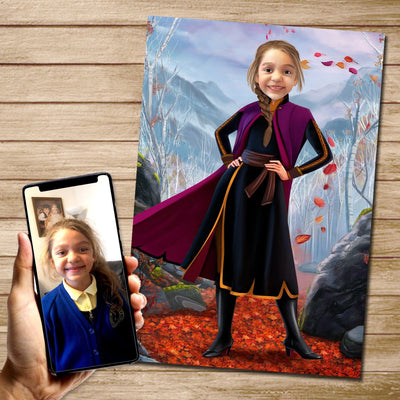 Anna - Custom Canvas Mural Heroes Digital Artwork only (NO CANVAS)