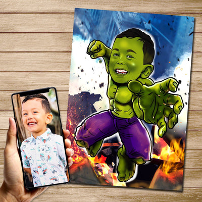 Hulk - Custom Canvas Mural Heroes