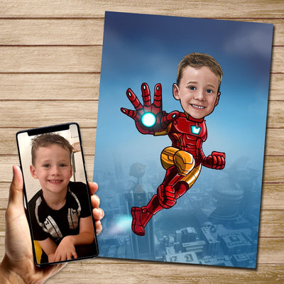 Ironman - Custom Canvas Mural Heroes Digital Artwork Only (no Canvas)
