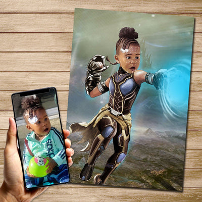 Princess Shuri Custom Canvas Mural Heroes Digital Artwork only (NO CANVAS)