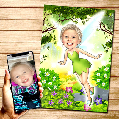 Tinker Bell Custom Canvas Mural Heroes Digital Artwork only (NO CANVAS)
