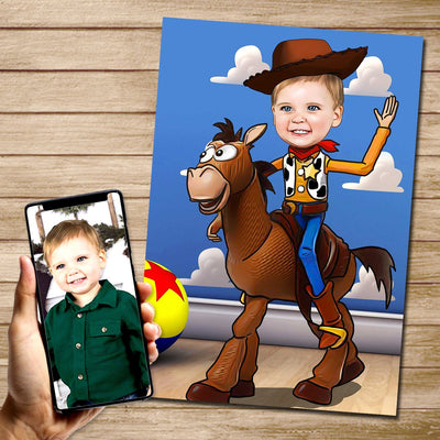 Woody Mural Heroes DIGITAL DOWNLAOD JPG