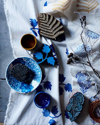 Block Printing with Indigo