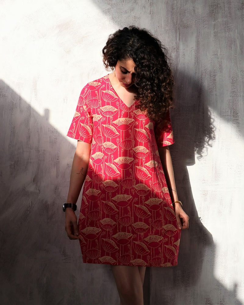 Rani blockprinted cotton shift dress