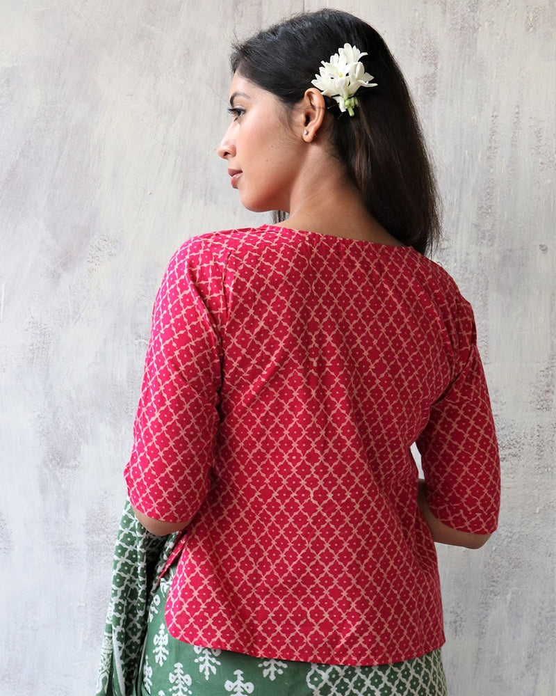 RANI BLOCK PRINTED TOP