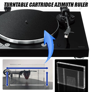 Turntable Cartridge Azimuth Ruler