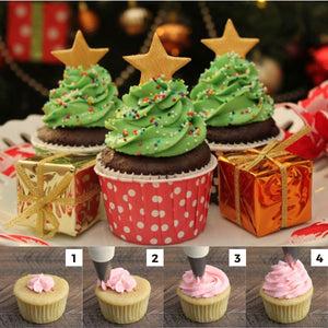 PastryPro Christmas Piping Tips (3 Pcs. Set)