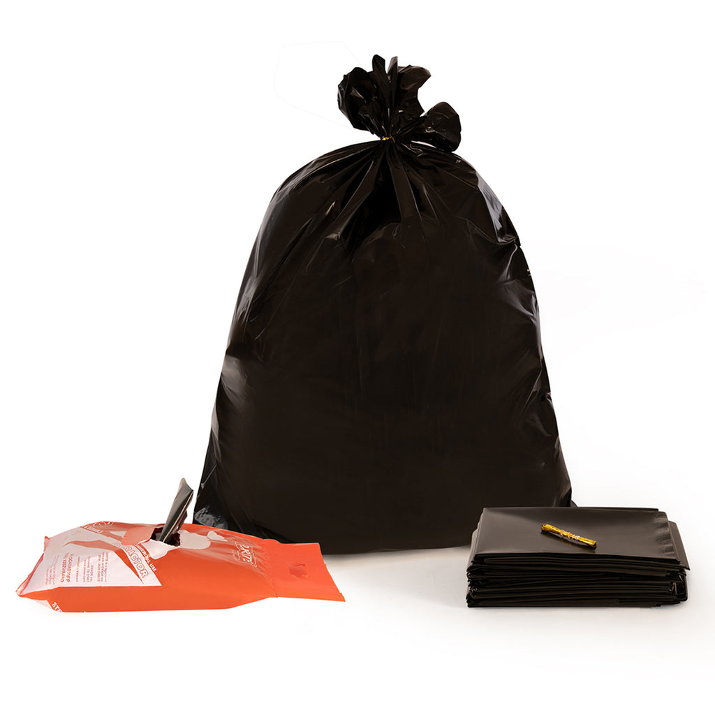 42 Gallon Black Contractor Trash Bags by OXRITE - 3 Mil, 40 Count