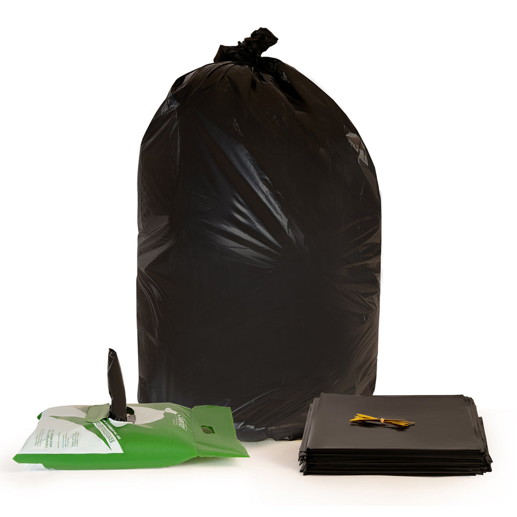 65 Gallon Black Trash Bags by OXRITE - 1.5 Mil, 50 Count