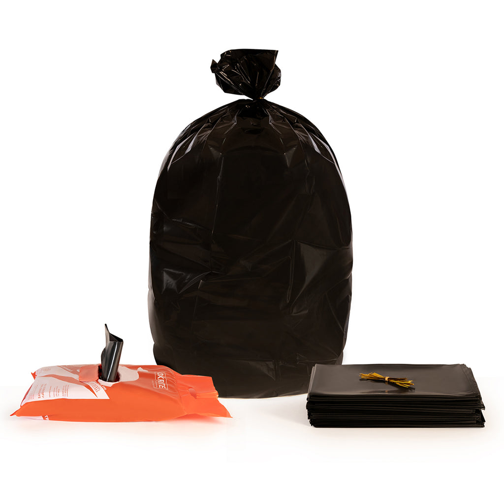 55 Gallon Black Contractor Trash Bags by OXRITE - 3 Mil, 32 Count