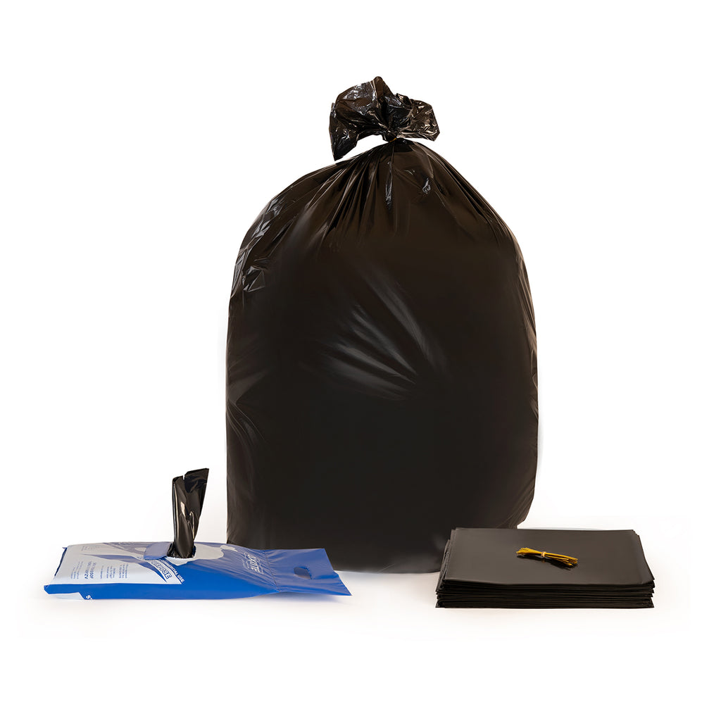 55 Gallon Black Trash Bags by OXRITE - 1.5 Mil, 50 Count