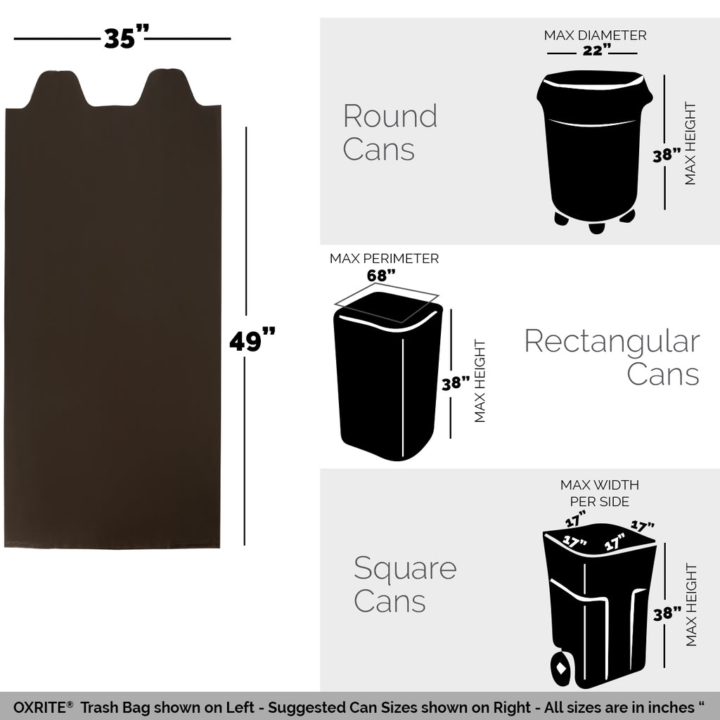 160 Contractor Trash Bags - 42 GAL, 3 MIL - Free Shipping