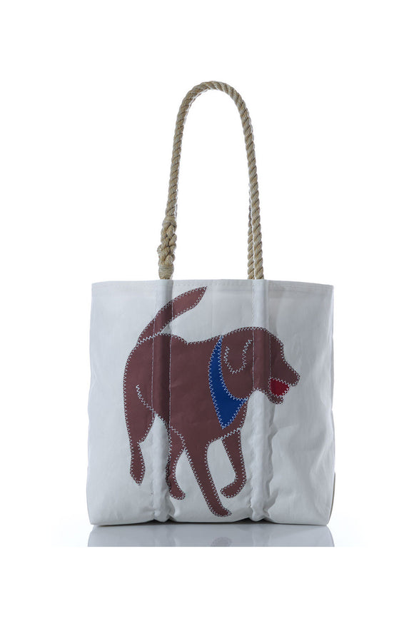 Chocolate Lab Sailcloth Tote