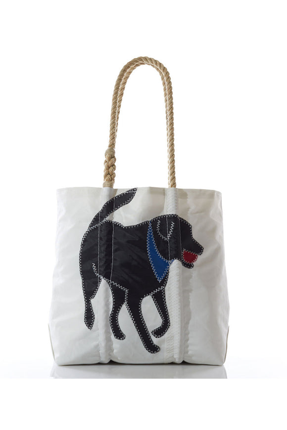 Black Lab Sailcloth Tote