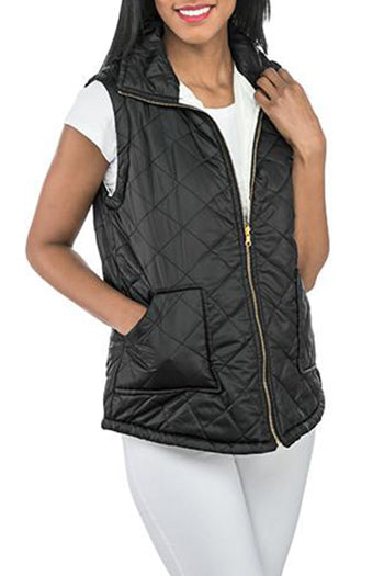 Black/Cream Reversible Vest