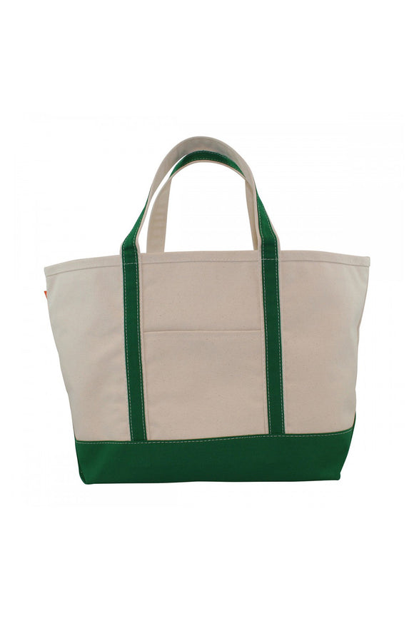 Large Boat Tote - Emerald - Embroidered