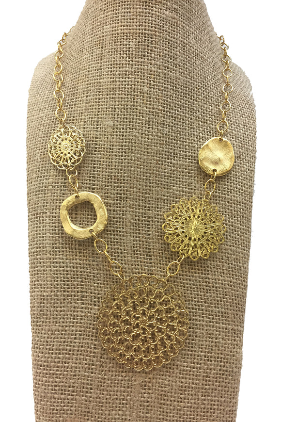 Susan Shaw Multi Medallion Necklace