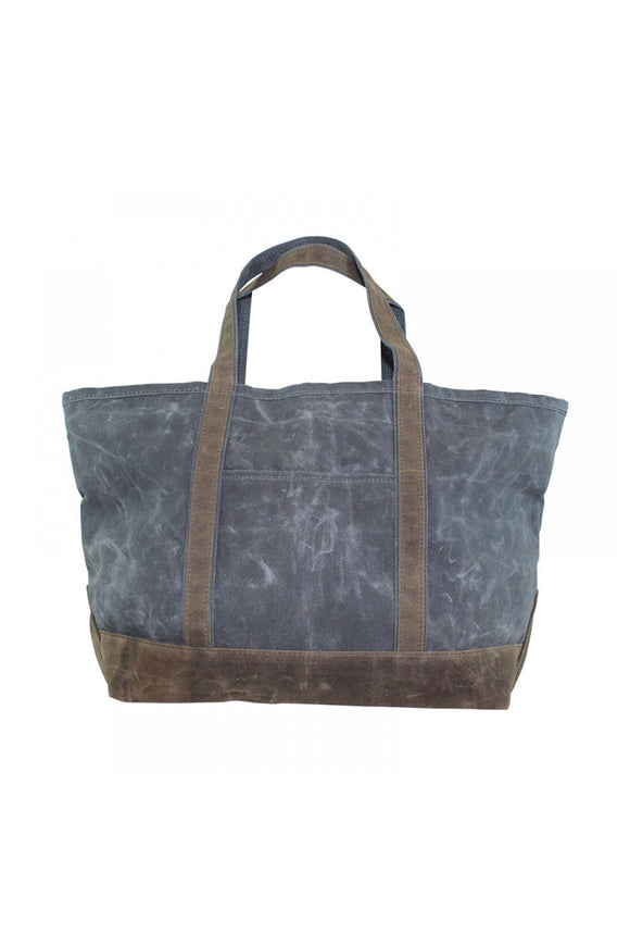 Large Boat Tote - Grey - Embroidered