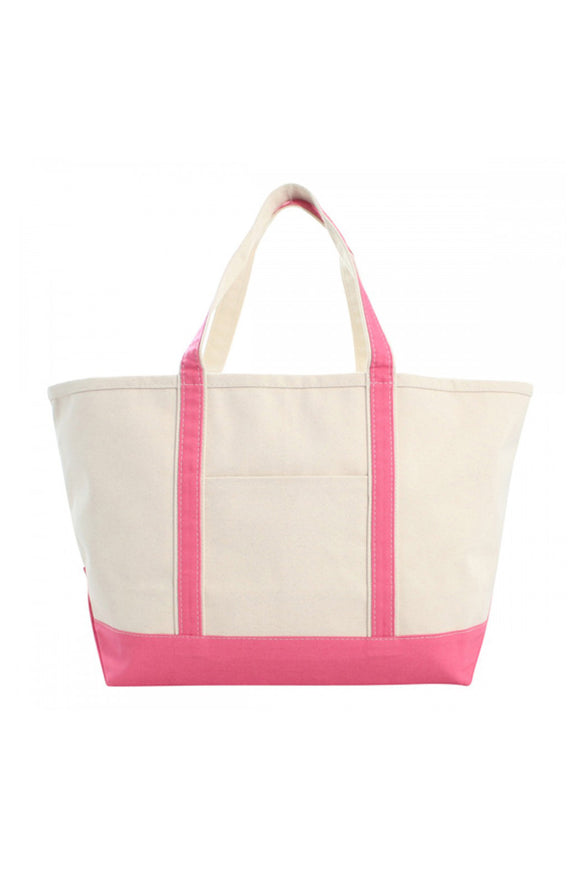 Large Boat Tote - Coral