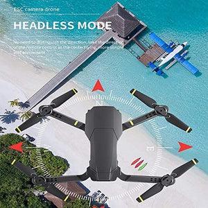 The Bigly Brothers E59 Pro Edition 2.4G FPV Drone with Camera 2K HD Remote Adjustable Camera, Infrared Obstacle Avoidance, x10 Zoom, Gesture Control Plus Free Carrying Case - w/Extra 1200mAh Battery