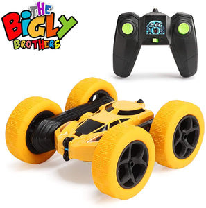 The Bigly Brothers Bumble Beezerker Double-Side Drift Stunt Car 2.4Ghz Remote Control RC Car Toy Truck for Adults and Kids, Extremely Durable. Toss it, Kick it or take it Over The Most Amazing Jumps.