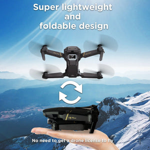 The Bigly Brothers E58 Pro X: 4k HD Drone Dual Camera Edition,Black FPV Drone with Camera and carrying Case plus an additional 1200mAh Battery. Up to 30 minutes of flight.