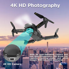 Load image into Gallery viewer, The Bigly Brothers E58 Pro X: 4k HD Drone Dual Camera Edition,Black FPV Drone with Camera and carrying Case plus an additional 1200mAh Battery. Up to 30 minutes of flight.