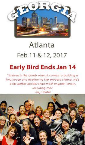 Andrew Morrison's Tiny House Workshop: Atlanta EARLY BIRD