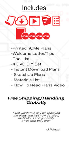 24' hOMe Total Plans Package- FREE shipping globally