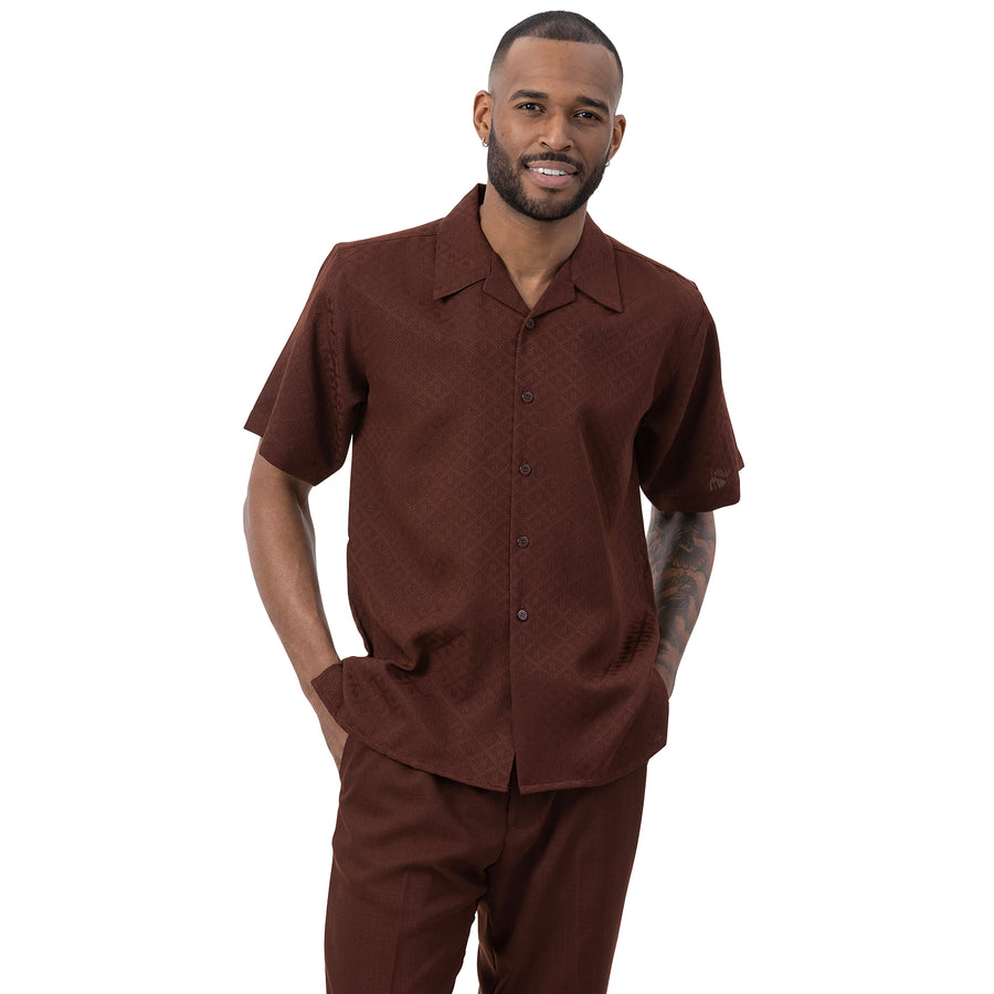 Montique Men's Short Sleeve Walking Suit