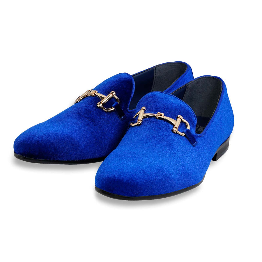 Men's Suede Velvet Smoker's Tuxedo Loafer Shoes