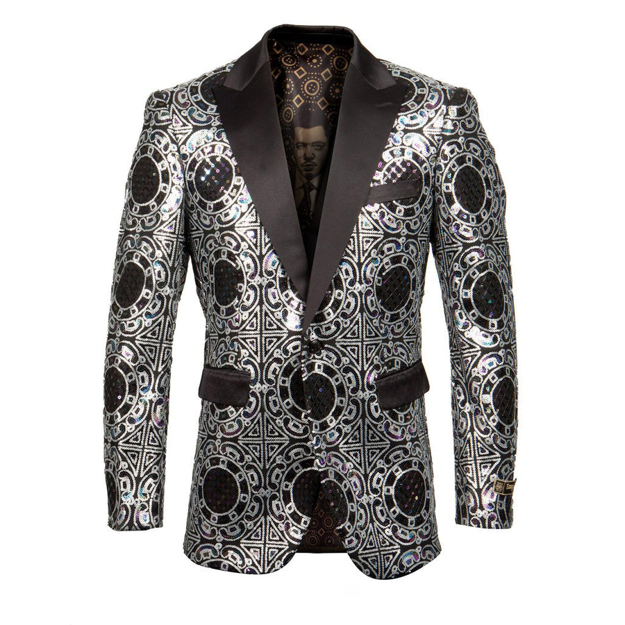 Empire Show Silver Dinner Formal Suit Jacket